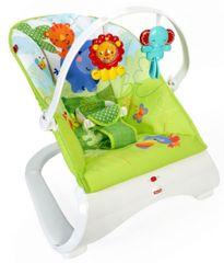 Fisher-Price Nihajni stol Rainforest Friends, zeleno bel