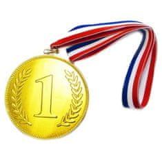 Medaile čokoládová 24x23g s trikolórou