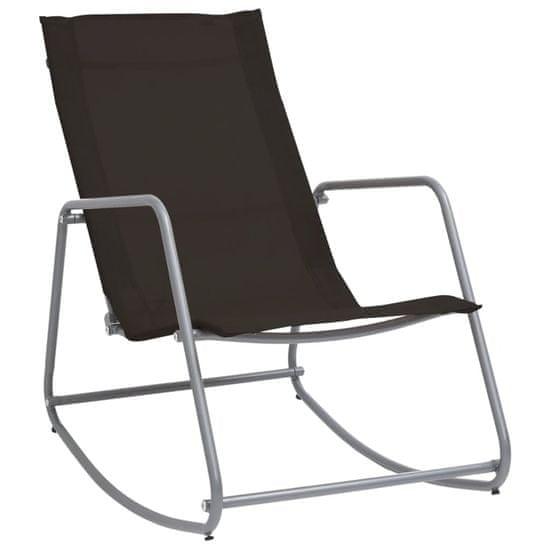shumee Ogrodowe krzesło bujane, czarne, 95x54x85 cm, textilene
