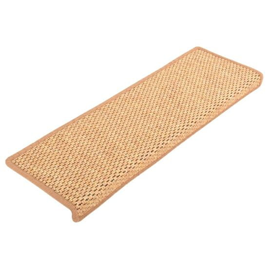 shumee 15 db szizál hatású narancssárga öntapadó lépcsőszőnyeg 65x25cm