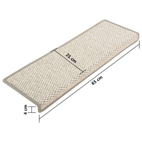 shumee 15 db szizál hatású ezüstszínű öntapadó lépcsőszőnyeg 65x25 cm