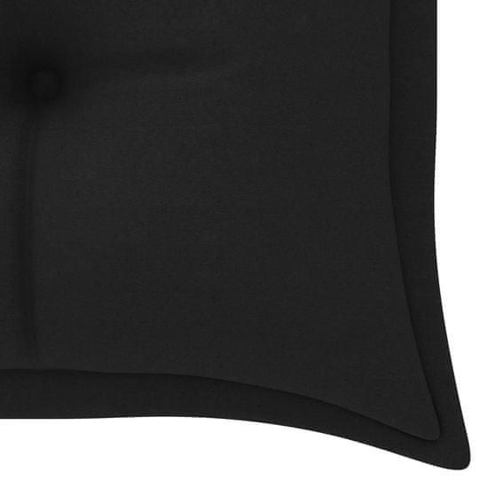 shumee Poduszka na huśtawkę, czarna, 150 cm, tkanina