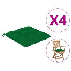 shumee vankúše na stoličky 4 ks 40x40x7 cm zelené