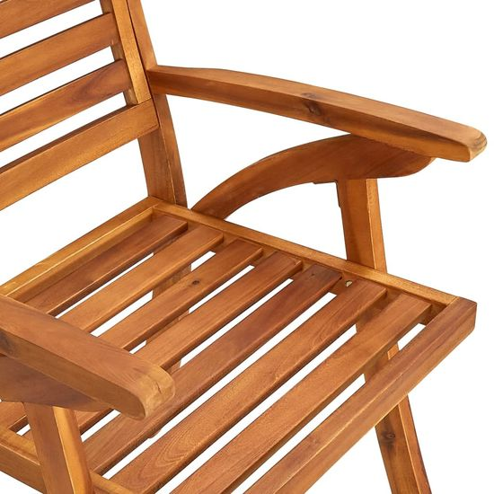shumee 8 db tömör akácfa kerti szék