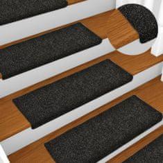 shumee Nakładki na schody, 10 szt., czarne, 65x25 cm