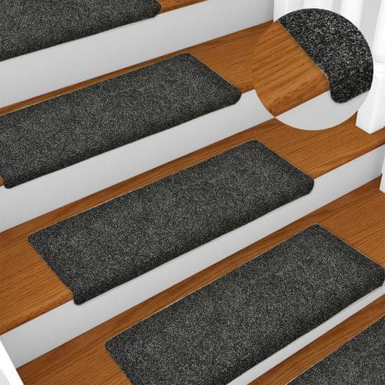 shumee Nakładki na schody, 10 szt., szare, 65x25 cm