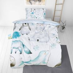 Svilanit otroška bombažna posteljnina, 140 x 200 cm + 50 x 70 cm, Penguin