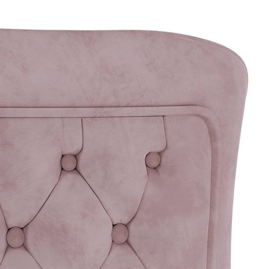 shumee Jedálenské stoličky 6 ks Ružový zamat a oceľ 53x52x98 cm