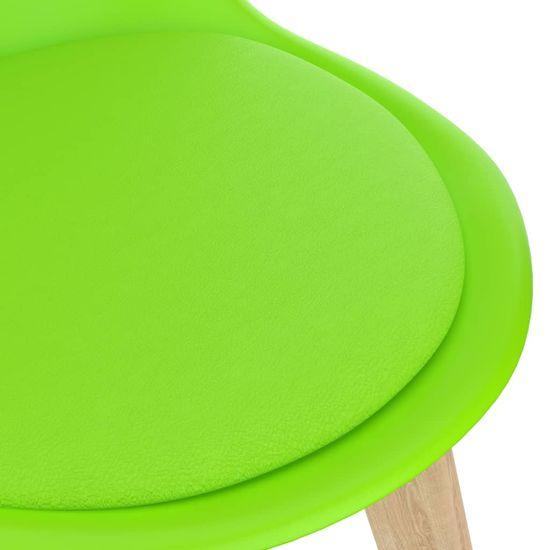 shumee 5-dielna jedálenská súprava zelená