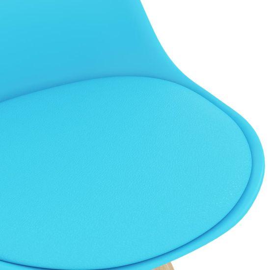 Greatstore 3-dielna barová súprava modrá