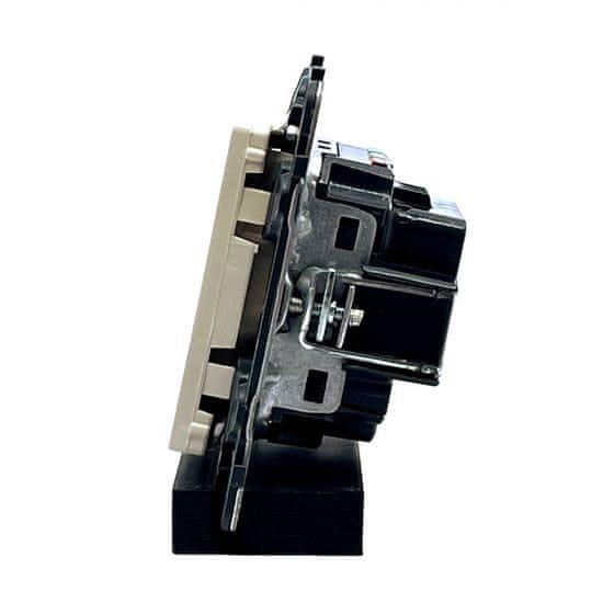 LEGRAND Valena LIFE 1-zásuvka béžová 74,7x74,7x40mm