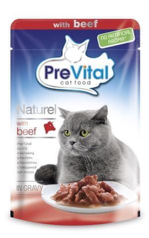 PreVital NATUREL goveji file za odrasle mačke 28 x 85g