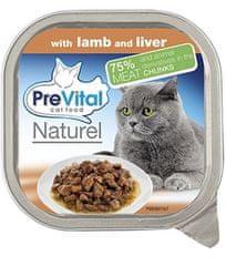 PreVital mokra karma dla kota Naturel z jagnięciną i warzywami 16x 100 g