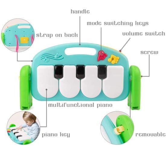 HUANGER HAPPY ZOO játszószőnyeg XXL zongorával