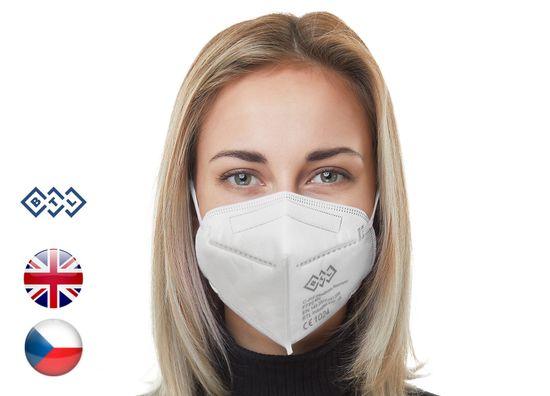 BTL Industries 25x Český C-FIT respirátor FFP2 s CE certifikací (13,9 Kč/ks)