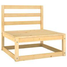 shumee Ogrodowa sofa środkowa, lite drewno sosnowe