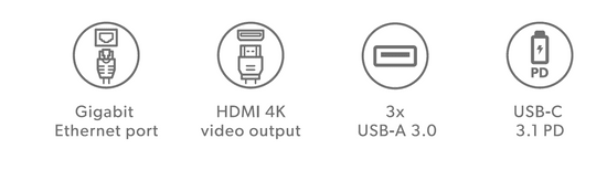 EPICO koncentrator USB Multimedia Hub 2019, srebrny