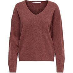 ONLY Ženski pulover ONLRICA LIFE 15224360 Mineralno rdeč (Velikost XS)