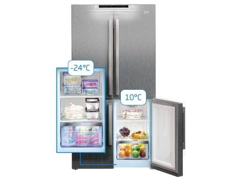 Americká chladnička Beko GN1426234ZDXN Multizóna
