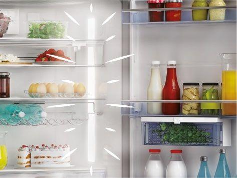 Americká chladnička Beko GN1426234ZDXN LED osvetlenie