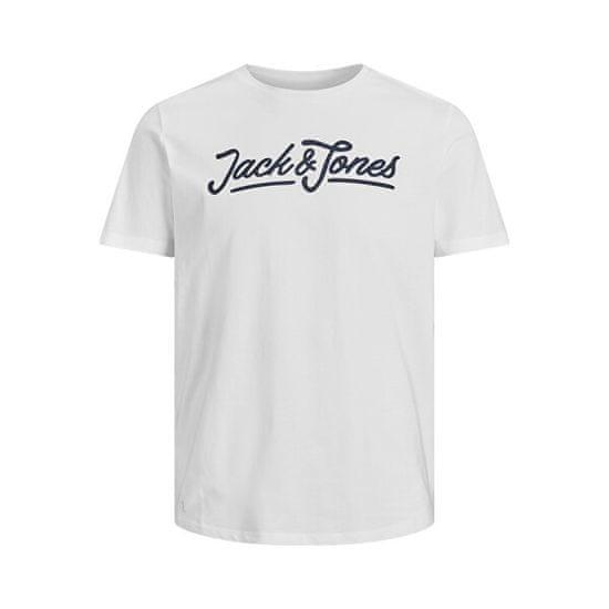 Jack&Jones Férfi póló JACARLO Regular Fit 12191375 Blanc de Blanc