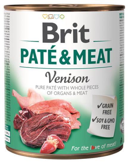 Brit karma dla psa Paté & Meat Venison, 6x800g