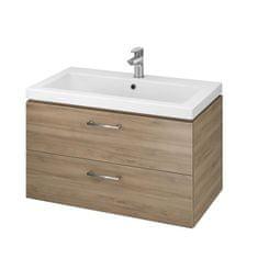 CERSANIT CERSANIT - SET skrinka + umývadlo, orech , LARA COMO 80, S801-154-DSM