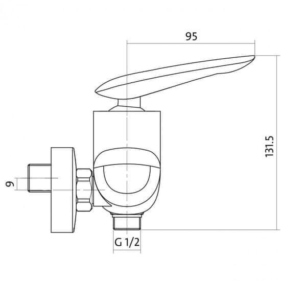 CERSANIT Cersanit MAYO - sprchová batéria, chróm, S951-038