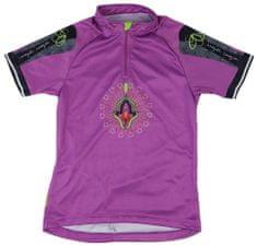 MAYA MAYA Ženska kolesarska majica - Loom, vijolična, S