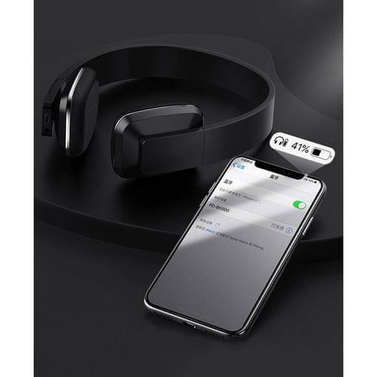 Proda PD-BH300 brezžično naglavne slušalke, belo/oranžna