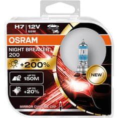 Osram H7 Night Breaker® 200 (2 ks) - 12V, 55W, PX26d - (64210NB200-HCB)