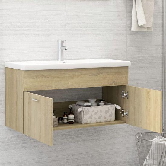 shumee Skrinka so vstavaným umývadlom dub sonoma drevotrieska
