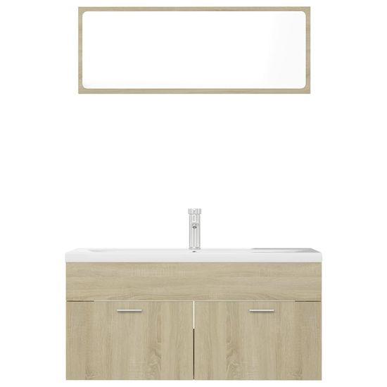 shumee Súprava kúpeľňového nábytku dub sonoma drevotrieska