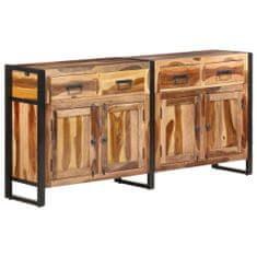 shumee Komoda 172x35x80 cm trden akacijev les s finišem iz palisandra
