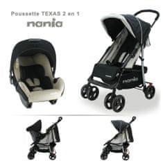 Nania Texas voziček + Beone avtosedež (0–13 kg), črn