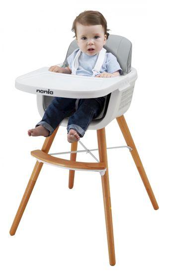 Nania LUNA 2 v 1 Grey stolček za hranjenje