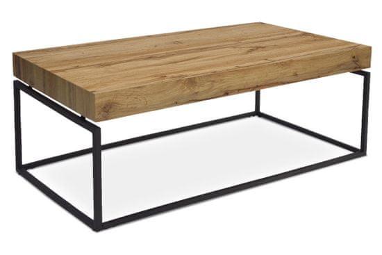Artium konferenčný stolík, 110x60x43 cm, doska MDF dekor dub, kov čierny mat AHG-264 OAK