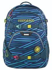 CoocaZoo Školní batoh ScaleRale, Zebra Stripe Blue, certifikát AGR