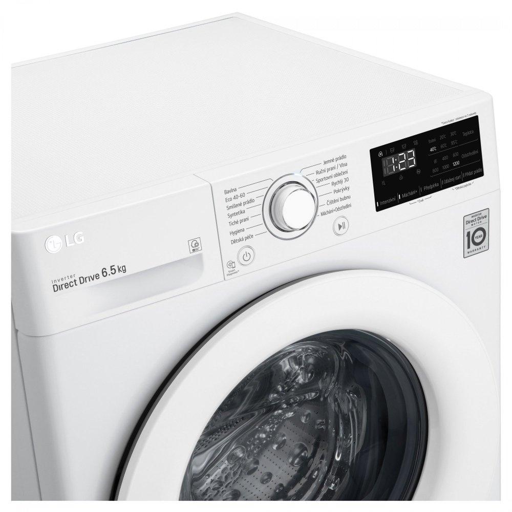 LG slim automatická pračka F26V2WN3W + 10 let záruka na motor