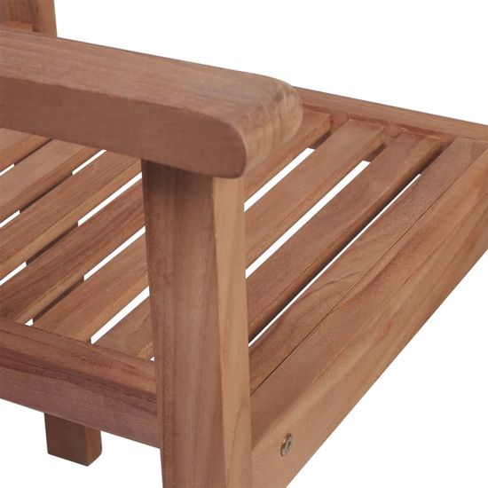 shumee 8 db rakásolható tömör tíkfa kerti szék párnákkal
