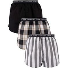 Calvin Klein 3 PACK - férfi alsónadrág CK One NB3000A-LES Level Stripe/ Black/ Field Plaid (méret S)