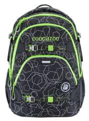 CoocaZoo Školní batoh ScaleRale, Laserreflect Solar-Green, certifikát AGR