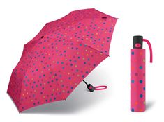Benetton Mini AC bodkovaný ružový vystreľovací dáždnik