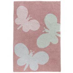 Jutex Kusový koberec Bambini 4363 motýle ružový 1.50 x 2.25