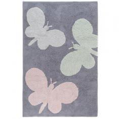 Jutex Kusový koberec Bambini 4363 motýle sivý 1.50 x 2.25