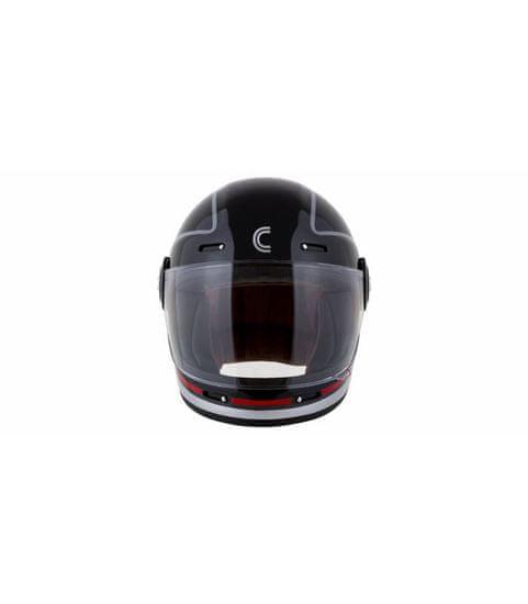 Cassida Přilba Fibre Jawa Sport, CASSIDA (černá/stříbrná/červená) XS