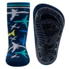 EWERS ABS - repülőgép 221201 csúszásgátló zokni fiúknak, 19-20, sötétkék