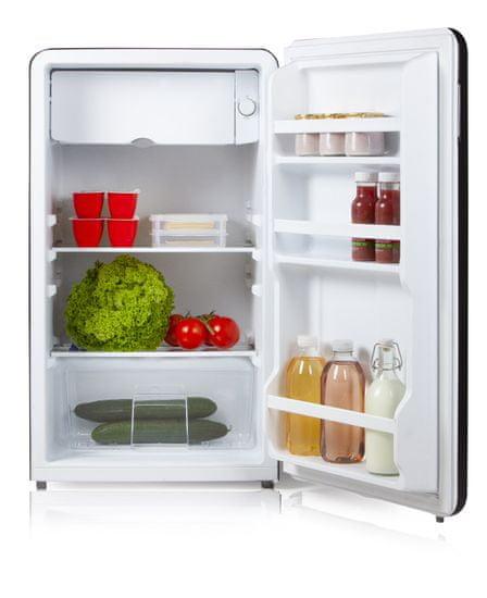 DOMO DO988RKZ Retro hladilnik, 93 l