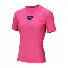 Aqua Marina Dámske lycrové tričko ALLUV PINK, Kr. rukáv ružová L - 42