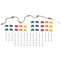 shumee horolezecké kamene s lanom, 25 ks, farebné